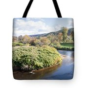 Panorama Of The Little River At Stowe Vermont Tote Bag