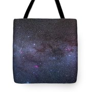 Panorama Of The Northern Milky Way Tote Bag