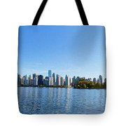 Panorama Of Vancouver Harbor Tote Bag by Jodi Jacobson
