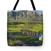 Panorama Of Windy Mountain Wyoming Tote Bag