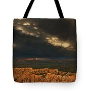 Panorama Storm Clouds Over Bryce Canyon National Park Utah Tote Bag