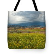 Panorama Striaght Cliffs And Rabbitbrush Escalante Grand Staircase  Tote Bag