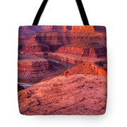 Panorama Sunrise At Dead Horse Point Utah Tote Bag
