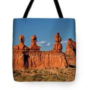 Panorama Three Sisters Hoodoo Goblin Valley Utah Tote Bag