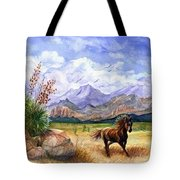 Panorama Triptych Don't Fence Me In  Tote Bag