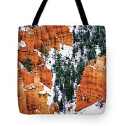 Panorama Winter Storm Blankets Thors Hammer And Bryce Canyon Tote Bag