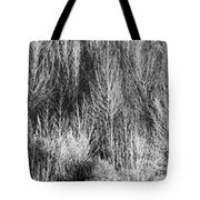Panorama Winter Trees B And W Tote Bag