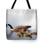 Panoramic Goose Family Outing Tote Bag
