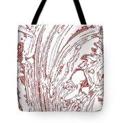 Panoramic Grunge Etching Burgundy Color Tote Bag