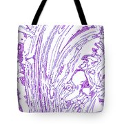 Panoramic Grunge Etching Purple Color Tote Bag