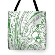 Panoramic Grunge Etching Sage Color Tote Bag