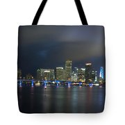 Panoramic Of Miami Florida Tote Bag