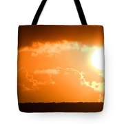 Panoramic Photo Of Sunset At Monkey Mia  Tote Bag by Yew Kwang