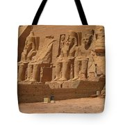 Panoramic Photograph Of Famous Egyptian Monument Tote Bag