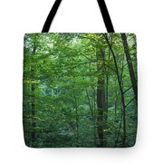 Panoramic Shot With Green Trees Tote Bag