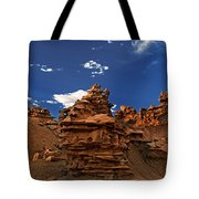 Panoramic Sunset Light On Sandstone Formations Fantasy Canyon  Tote Bag