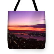 Panoramic View Of Empire State Tote Bag