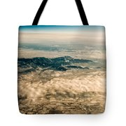 Panoramic View Of Landscape Of Mountain Range Tote Bag