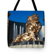 Panoramic View Of Mgm Lion And Mgm Tote Bag