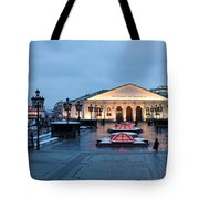Panoramic View Of Moscow Manege Square And And Central Exhibition Hall - Featured 3 Tote Bag