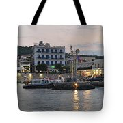 Panoramic View Of Spetses Town Tote Bag