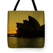 Panoramic View Of Sunrise At Sydney Opera House Tote Bag