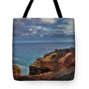 Panoramic View Of The Grotto Tote Bag