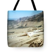 Panoramic View Over Hatschepsut Temple Tote Bag