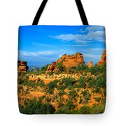 Panoramic View, Sedona, Arizona Tote Bag