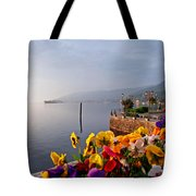 Pansies On Lake Maggiore Tote Bag