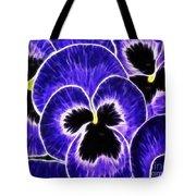 Pansy Expressive Brushstrokes Tote Bag