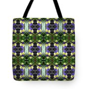 Pansy Floral Pattern Tote Bag