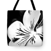 Pansy Flower Black And White 02 Tote Bag