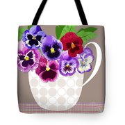 Pansy Passion Tote Bag