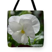 Pansy Purity Tote Bag