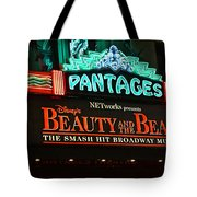 Pantages Theather Marquie Tote Bag