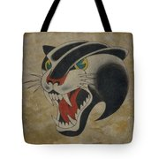 Traditional Tattoo Panther  Tote Bag
