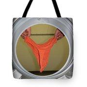 Panties In The Washing Machine Tote Bag