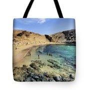 Papagayo Beach On Lanzarote Tote Bag