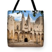 Papal Castle In Avignon Tote Bag by Inge Johnsson
