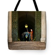 Papal Swiss Guard At The Vatican Museums Tote Bag