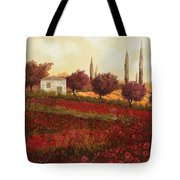 Papaveri In Toscana Tote Bag