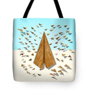 Paper Airplanes Of Wood 10 Tote Bag