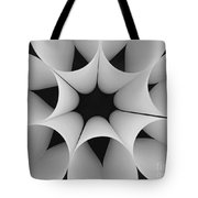 Paper Flower Black And White Tote Bag