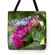 Paper Kite On Fluid Blossoms Tote Bag