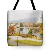 Paper Mill And Fall Colors In Rumford Maine Tote Bag