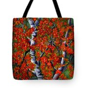 Paper White Birch Reflections Tote Bag