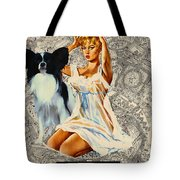 Papillon Art - Una Parisienne Movie Poster Tote Bag