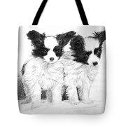 Papillon Puppies Tote Bag