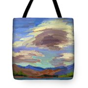 Papoose Lake And Clouds Tote Bag